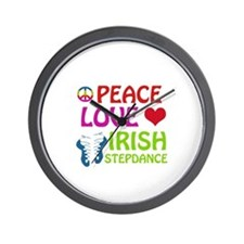 Peace Love Irish Stepdance Wall Clock
