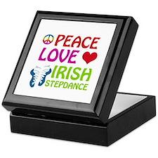 Peace Love Irish Stepdance Keepsake Box