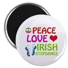 "Peace Love Irish Stepdance 2.25"" Magnet (10 pack)"