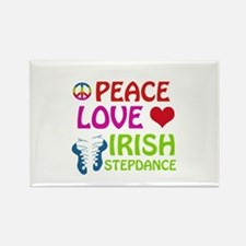 Peace Love Irish Stepdance Rectangle Magnet