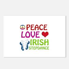Peace Love Irish Stepdance Postcards (Package of 8
