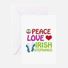 Peace Love Irish Stepdance Greeting Card