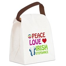 Peace Love Irish Stepdance Canvas Lunch Bag