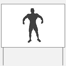Bodybuilder Bodybuilding Yard Sign