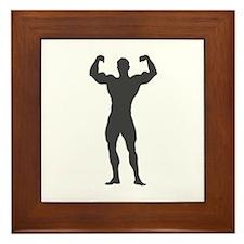 Bodybuilder Bodybuilding Framed Tile