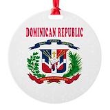 Dominican republic Round Ornament