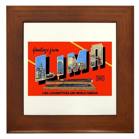 Lima Ohio Greetings Framed Tile