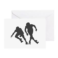 Speed RollerSkating Greeting Card