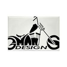 GMAN DESIGNS OFFICIAL LOGO Rectangle Magnet