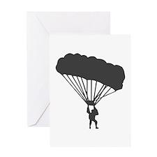 Skydiving Parachuting Greeting Card
