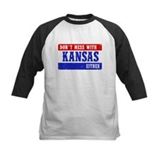 Dont Mess With Kansas....EITHER! Baseball Jersey
