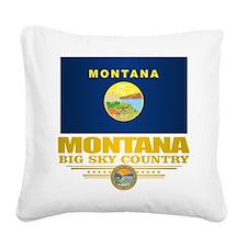 Montana Pride Square Canvas Pillow