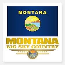 """Montana Pride Square Car Magnet 3"""" x 3"""""""