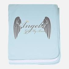 Angels Got My Back baby blanket