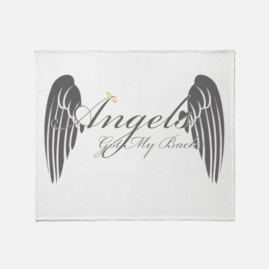 Angels Got My Back Throw Blanket