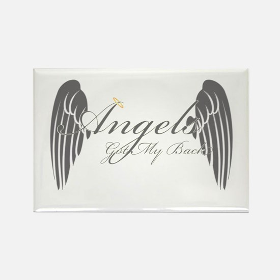 Angels Got My Back Rectangle Magnet (10 pack)