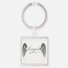 Angels Got My Back Keychains