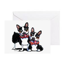 Bowtie Boston Terriers Greeting Card
