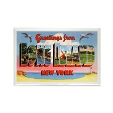 Long Island New York Greetings Rectangle Magnet
