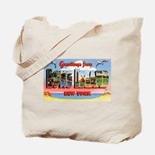 Long Island New York Greetings Tote Bag
