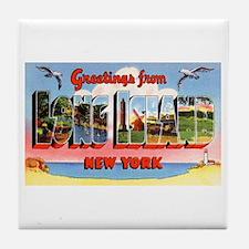 Long Island New York Greetings Tile Coaster
