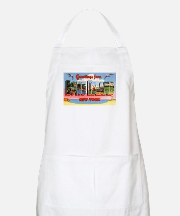 Long Island New York Greetings BBQ Apron