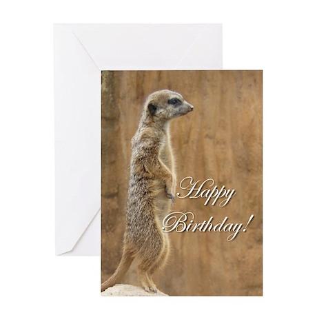 Happy Birthday Meerkat Greeting Card