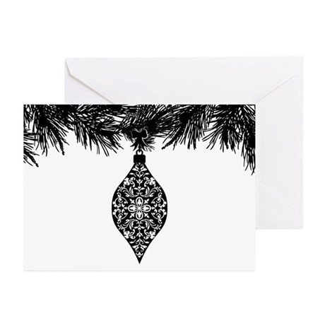 Gothic Pattern Holiday Ornament Greeting Cards (Pk