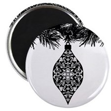 Gothic Pattern Holiday Ornament Magnet
