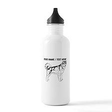 Custom Siberian Husky Sketch Water Bottle