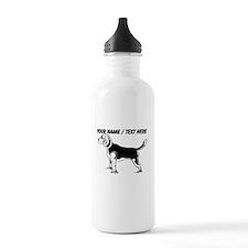 Custom Beagle Puppy Sketch Water Bottle