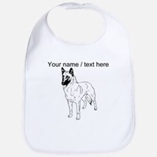 Custom German Shepherd Sketch Bib