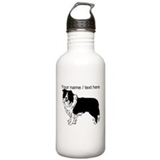 Custom Border Collie Sketch Water Bottle
