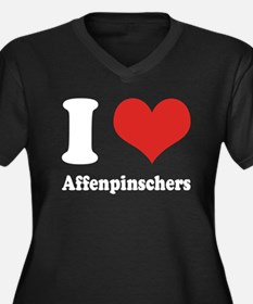 I Heart Affenpinschers Women's Plus Size V-Neck Da