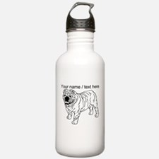 Custom Bulldog Sketch Water Bottle