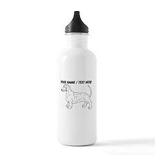 Custom Weiner Dog Sketch Water Bottle