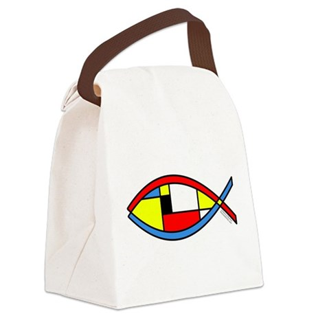 Colorful Fish Canvas Lunch Bag