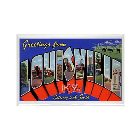 Louisville Kentucky Greetings Rectangle Magnet (10
