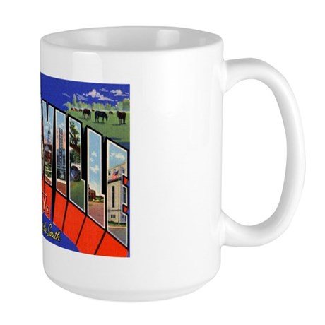 Louisville Kentucky Greetings Large Mug