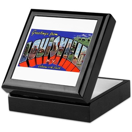 Louisville Kentucky Greetings Keepsake Box