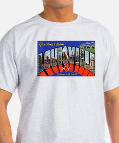 Louisville Kentucky Greetings (Front) Ash Grey T-S