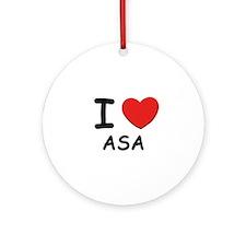 I love Asa Ornament (Round)