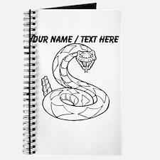 Custom Rattlesnake Sketch Journal