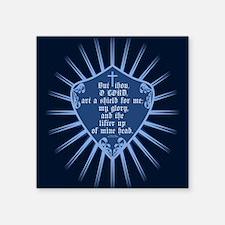 "Psalm 3:3 Shield Square Sticker 3"" x 3"""
