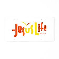 Son Shine JesusLife Orange Yellow License Plate