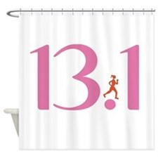 13.1 Half Marathon Runner Girl Shower Curtain