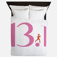 13.1 Half Marathon Runner Girl Queen Duvet