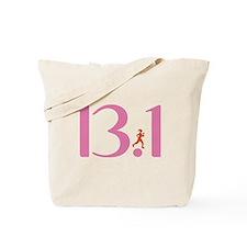 13.1 Half Marathon Runner Girl Tote Bag