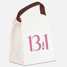 13.1 Half Marathon Runner Girl Canvas Lunch Bag