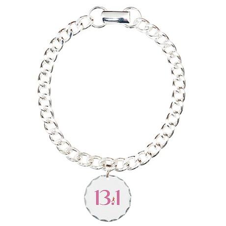 13.1 Half Marathon Runner Girl Charm Bracelet, One